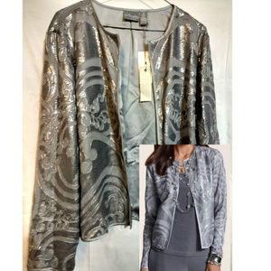 Chico's Travelers Collection Sequin Cardigan 14/16